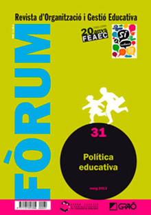 REVISTA FORUM - 031 (MAIG 13) - Política educativa